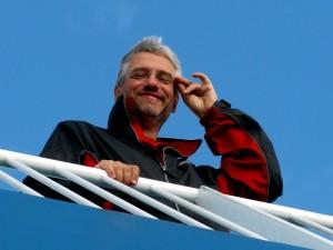 Manuel auf der Fähre nach Fanø