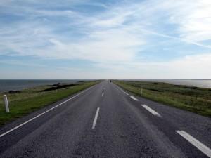 Straße zur Fähre nach Thyborøn