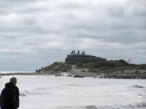 Bunkerreste am Strand