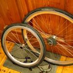 Räder bereit zum Zentrieren