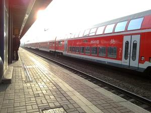 Rückfahrt mit dem RE ab Brandenburg/Havel