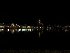 Waren/Müritz bei Nacht