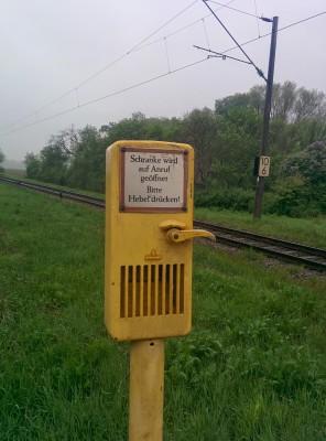 Anforderungsbahnschrankenhebel