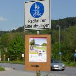 So stellt man sich in Deutschland Radwege vor