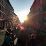 Critical Mass wälzt sich durch die Strassen