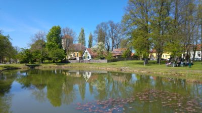 Marwitz Dorfteich und Kirche
