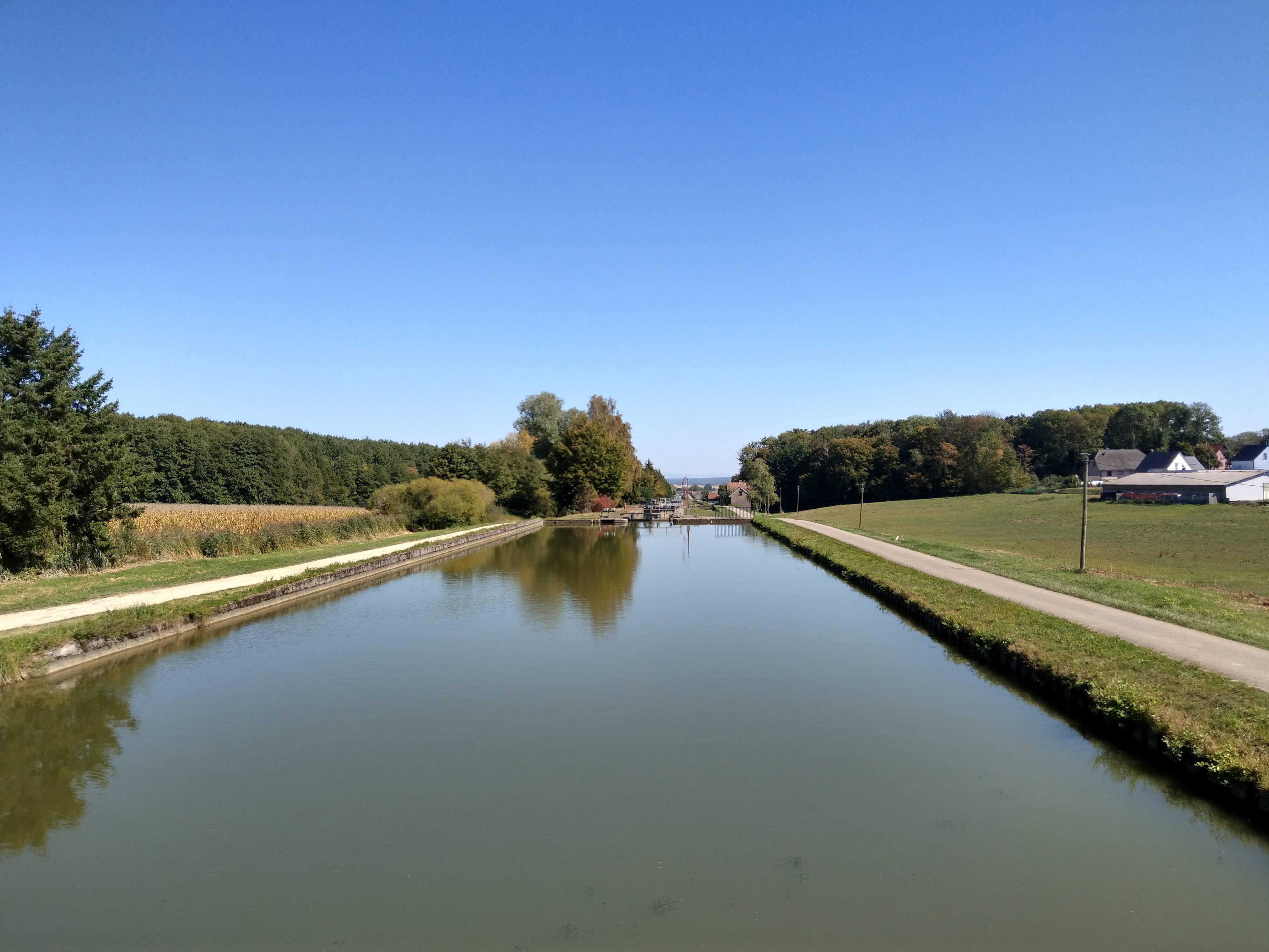 Schleusen am Kanal
