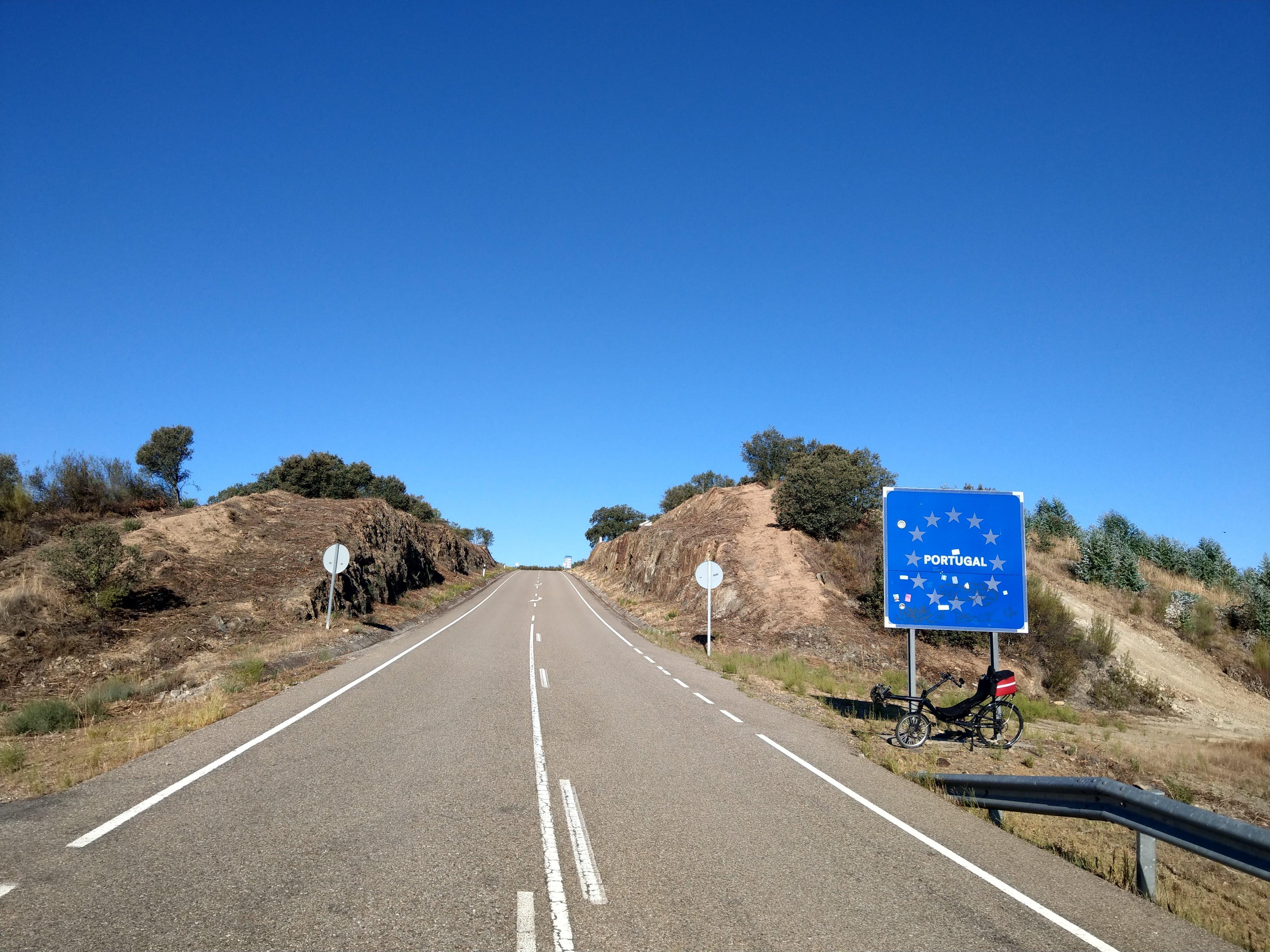 Ländergrenze Spanien-Portugal