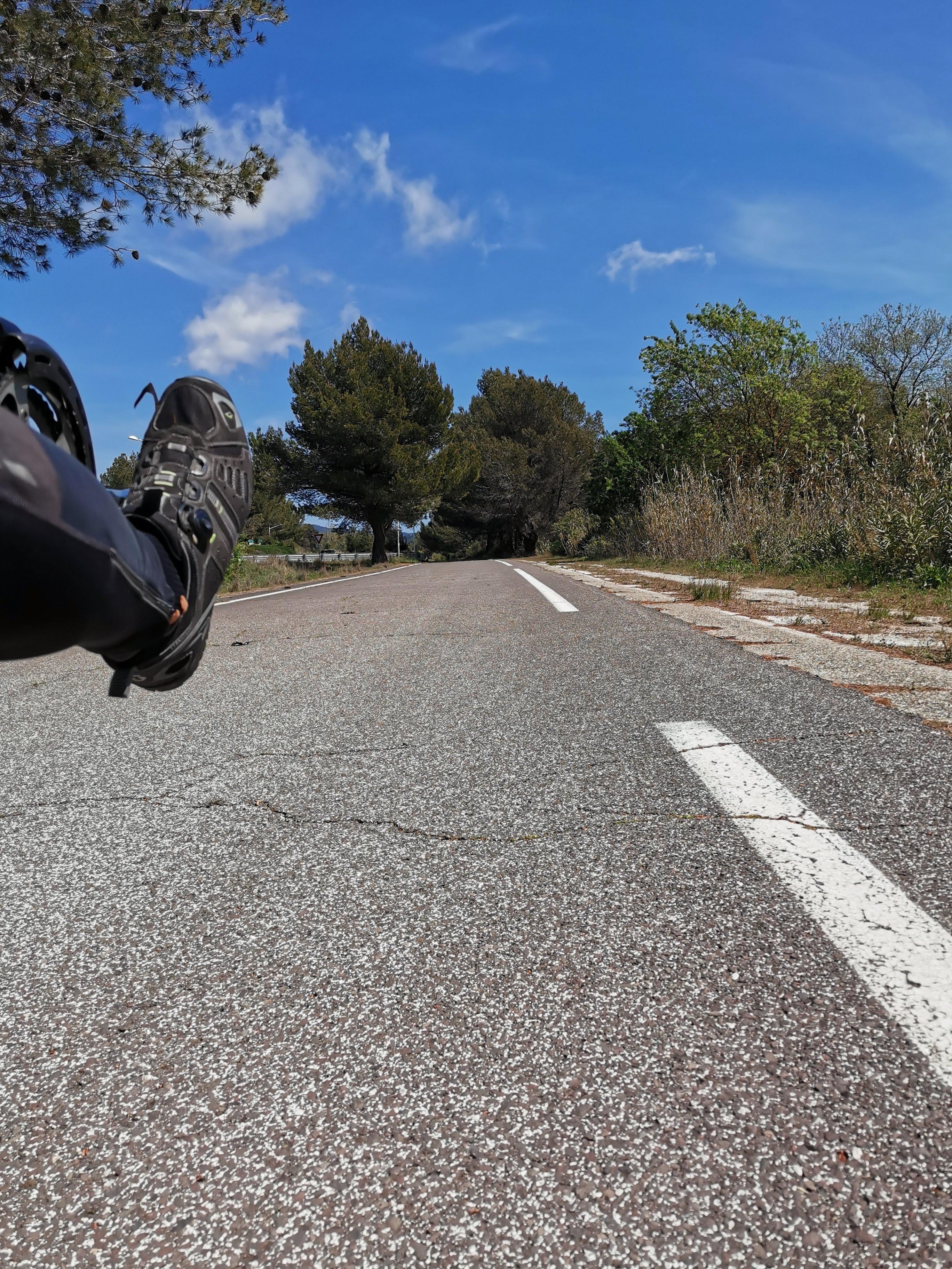 Küstenradweg auf alter Straße