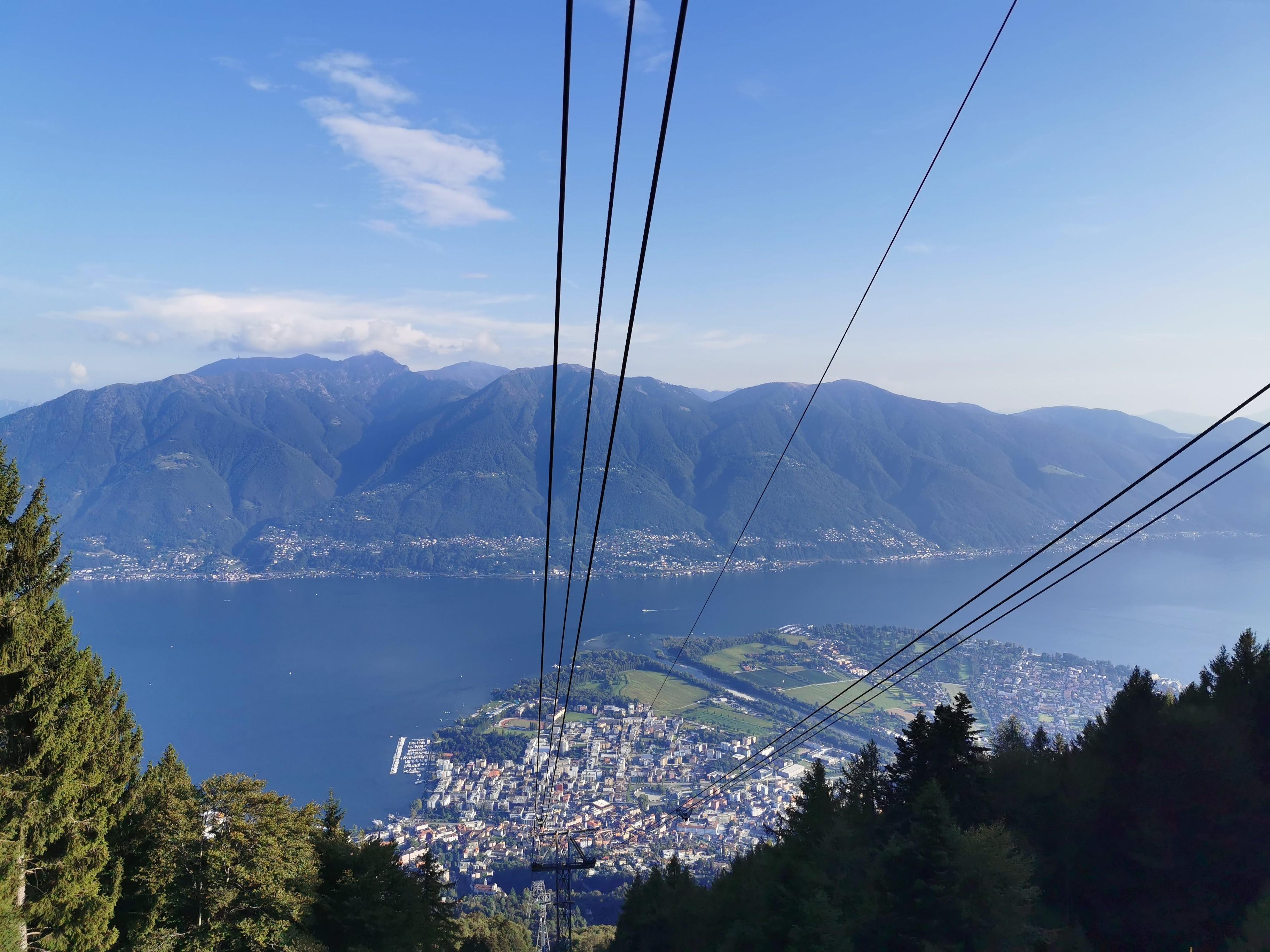 Lago Maggiore und Locarno aus der Seilbahn