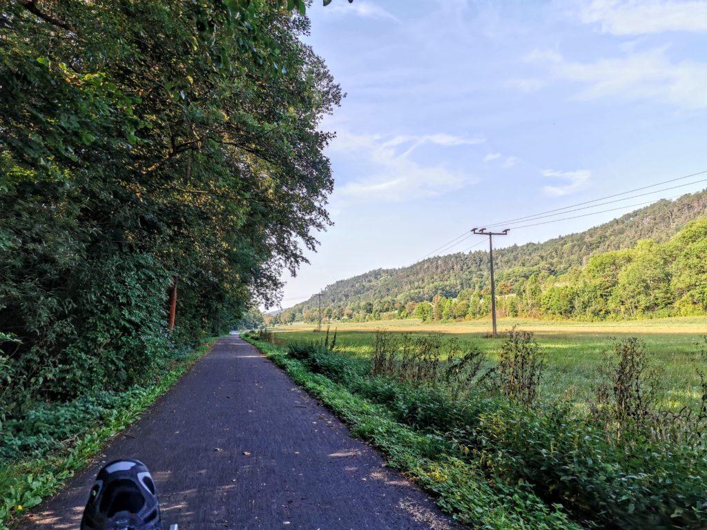 Radweg im Steigerwald