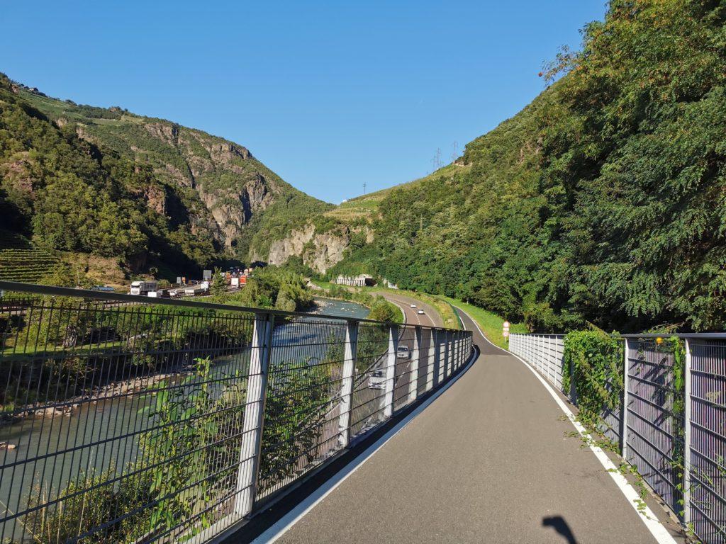 Brenner-Radweg auf italienischer Seite